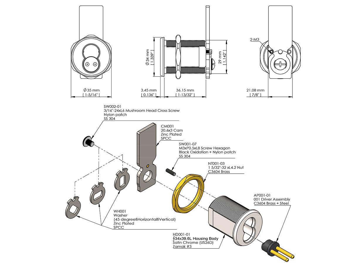 SFIC Cam Lock - ICK Lock Products